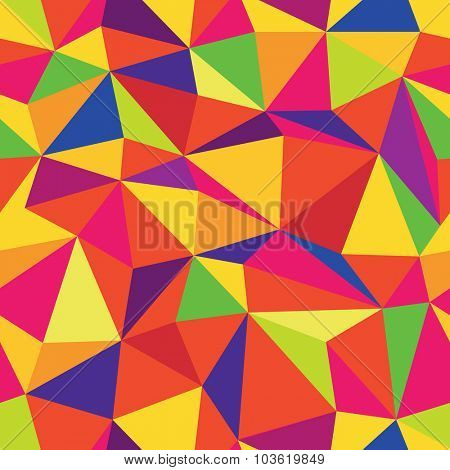 Colorful Triangle Seamless Pattern