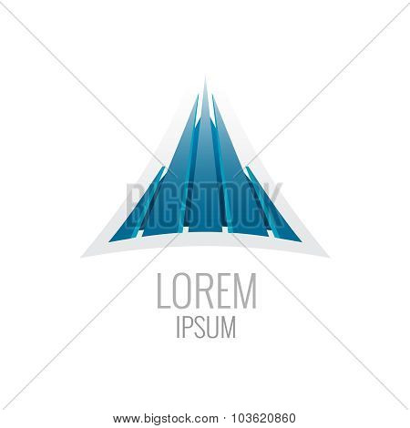Construction Logo Template. Abstract Triangle Buiding Sign.
