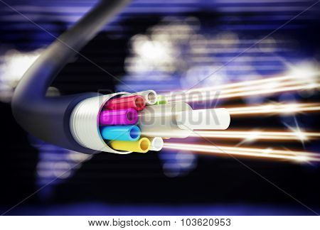 Speed of optic fiber