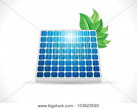 Abstract Detailed Glossy Solar Panel