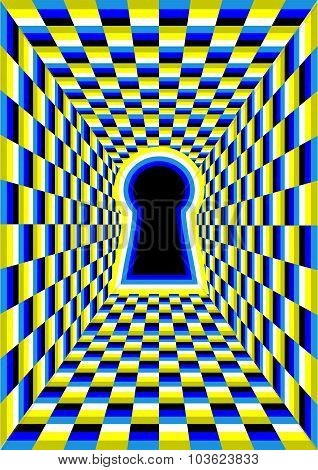 Optical Illusion With Hole