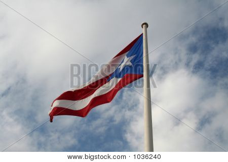 Flying Puerto Rican Flag