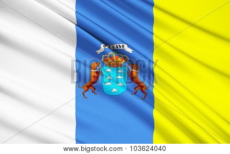 Flag Of Canary Islands, Las Palmas De Gran Canaria, Santa Cruz De Tenerife