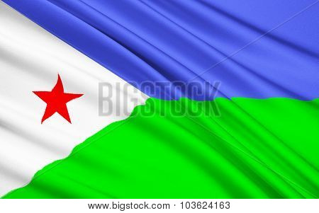 Flag Of Republic Of Djibouti