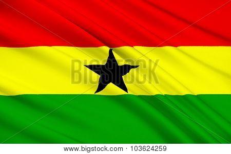 Flag Of Ghana, Accra