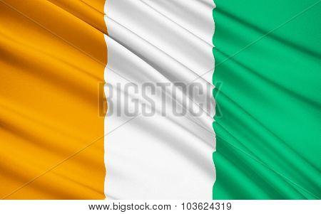 Flag Of Ivory Coast - West Africa