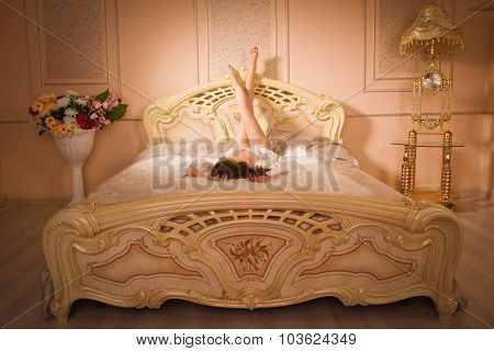 Sexual Woman Lying On The Bed