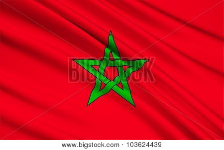 Flag Of Morocco, Rabat
