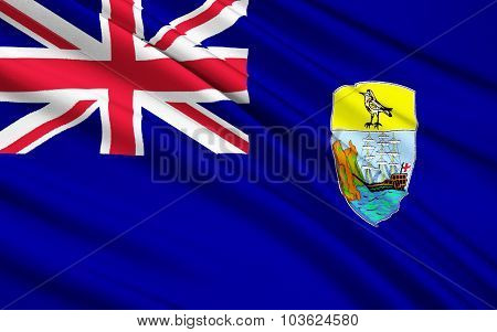 Flag Of Saint Helena, Ascension And Tristan Da Cunha, British Possession, Jamestown