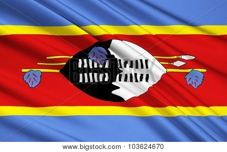Flag Of Swaziland, Mbabane