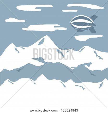 Airship travel background