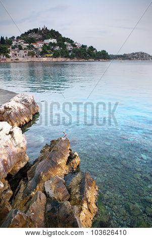 Rocky Beach On A Clear Sea, Croatia Dalmatia