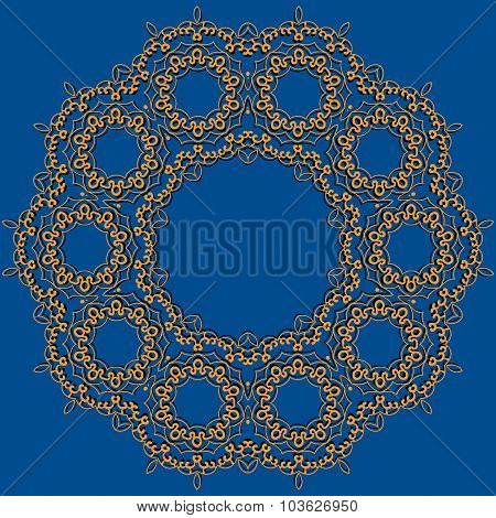 Abstract vector circle floral ornamental border mandala inspired artwork frame