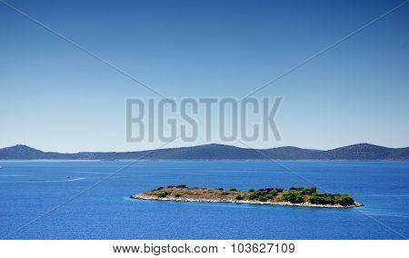 Uninhabited Island In The Sea, Croatia Dalmatia Landscape
