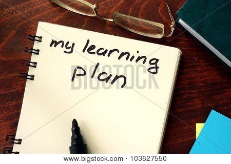Words written my learning plan.