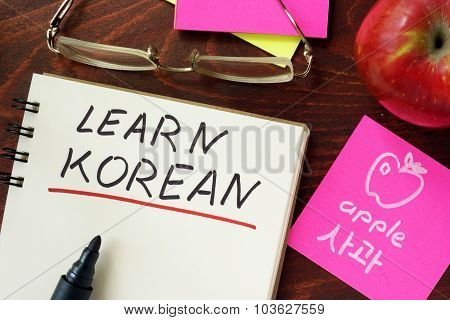 Words written learn korean.