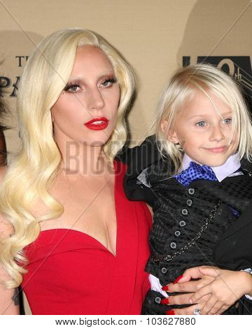 LOS ANGELES - OCT 3:  Lady Gaga, Lennon Henry at the