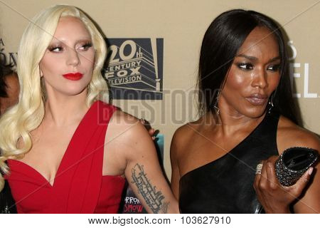 LOS ANGELES - OCT 3:  Lady Gaga, Angela Bassett at the