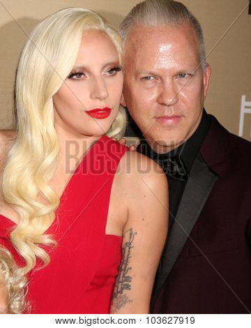 LOS ANGELES - OCT 3:  Lady Gaga, Ryan Murphy at the