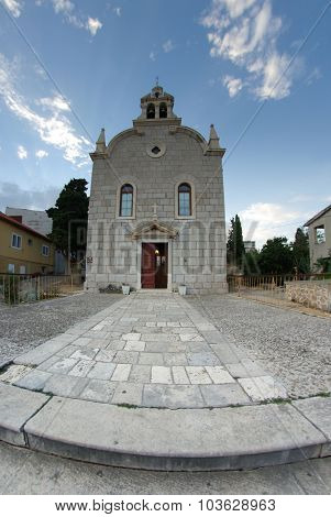 Old Stone Church Exterior, Fish Eye Lens