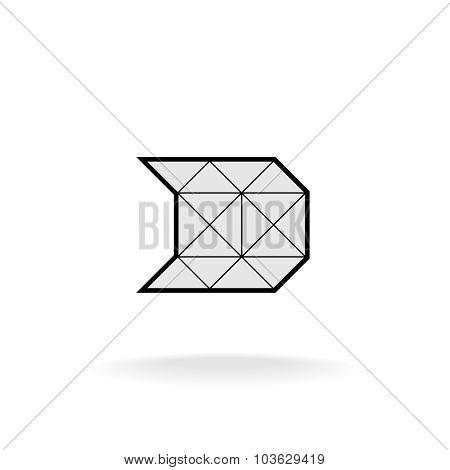 D Letter Logo Template.construction Framework Concept.