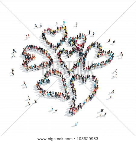 people  shape  heart cartoon