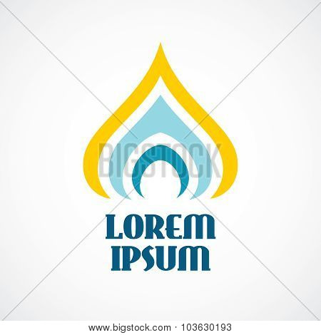 Religion Logo Template. Stylized Orthodox Church Dome Or Candle.