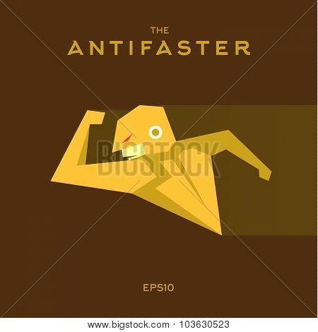 Anti Hero superhero flat style icon vector logo, illustration, villains