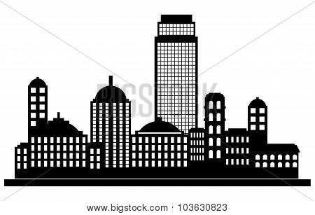 City panorama silhouette