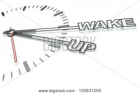 Clock With Words Time To Sleep, Concept Of Rest
