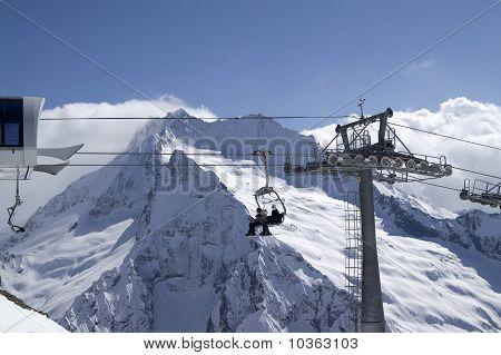 Ropeway. Ski Resort.