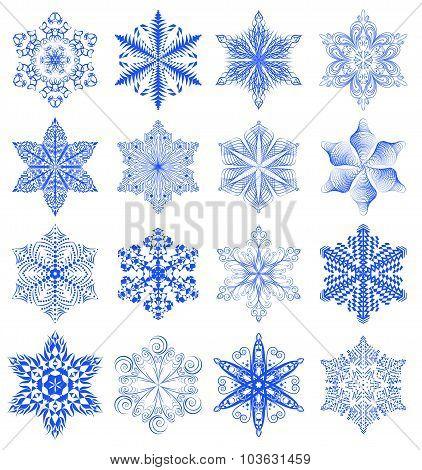Snowflake blue set