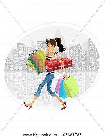 Young Girl Shopping