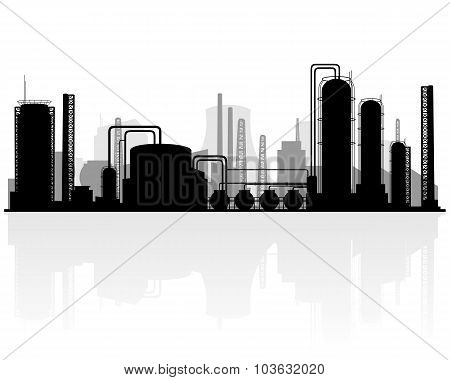 Petrochemical Production Silhouette