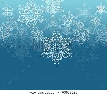 Winter ornament background