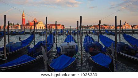 Venice With Gondolas