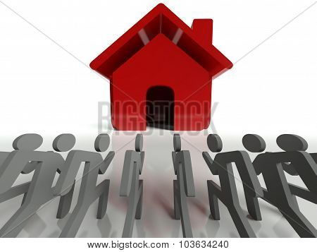 Demand For Houses And Real Estate, Business Metaphor