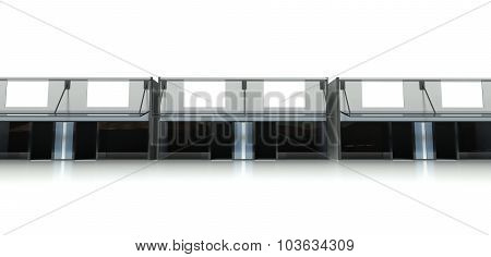 3D Storefront Background, Buildings In Row