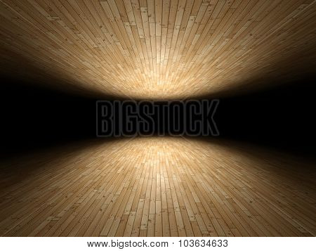 Floor And Ceiling Made Of Wooden Planks Background Texture