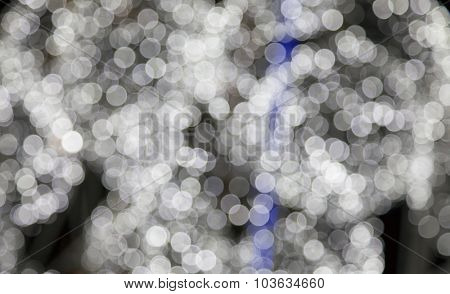 Background made of defocused ligths of the Christmas decorations
