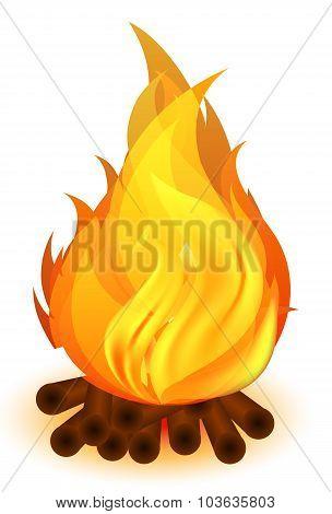 Bonfire Of Wooden Wood