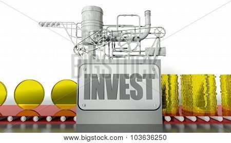 Banking Concept With Money Machine