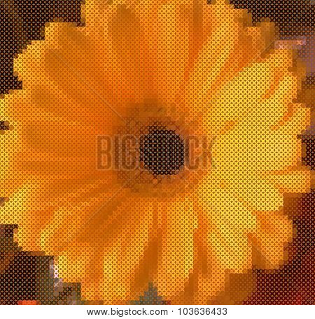 floral rustic geometrical background.