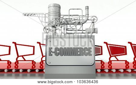 Buying Concept With Shopping Carts