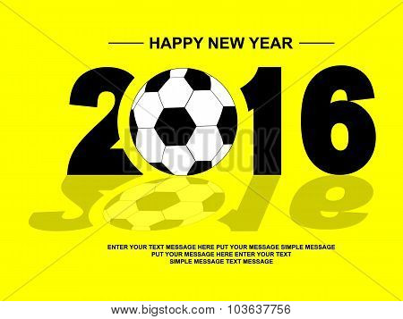 2016 Happy New Year Football