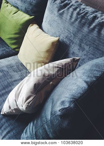 cushion in a living room