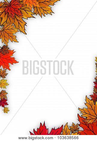Border Of Autumn Leaves