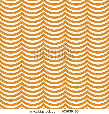 Orange And White Wavy Stripes Tile Pattern Repeat Background