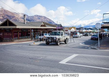 Wanaka Town New Zealand-september 5:wanaka Is A Ski And Summer Resort Town ,traveling Destination In