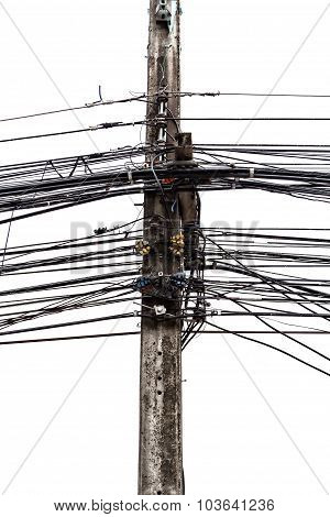 Chaotic Wires On Electricity Post